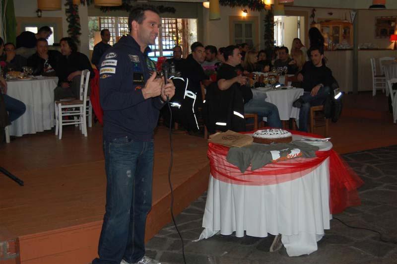 O Βασίλης Ορφανός προσκεκλημένος στην κοπή πίτας του Transalp Hellas Club.