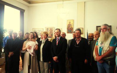 Βράβευση της Υπουργού Μακεδονίας-Θράκης στον Βασίλη Ορφανό.