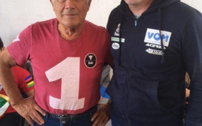 H VOM και ο Βασίλης Ορφανός συναντιούνται στην πίστα των Σερρών με τον Θρύλο των αγώνων ταχύτητας Giacomo AGOSTINI